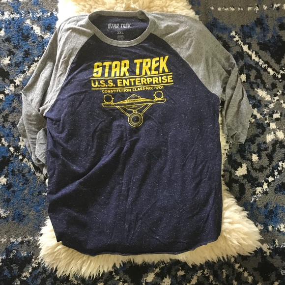 c247d640 star trek Tops | 2xl Uss Enterprise 34 Sleeve Shirt | Poshmark